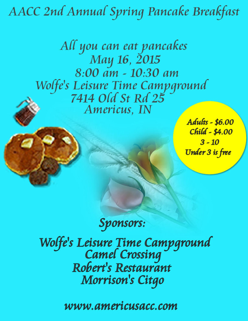 2015 Pancake Breakfast Flier