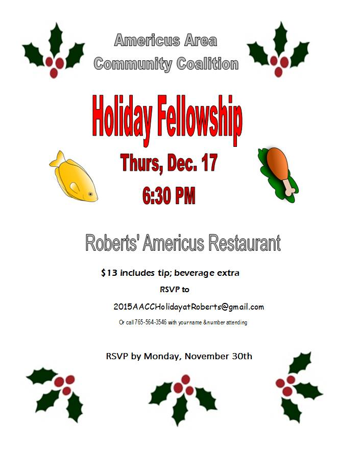 AACC Holiday Fellowship 2015